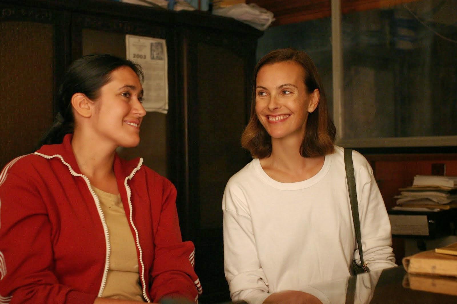 con Carole Bouquet