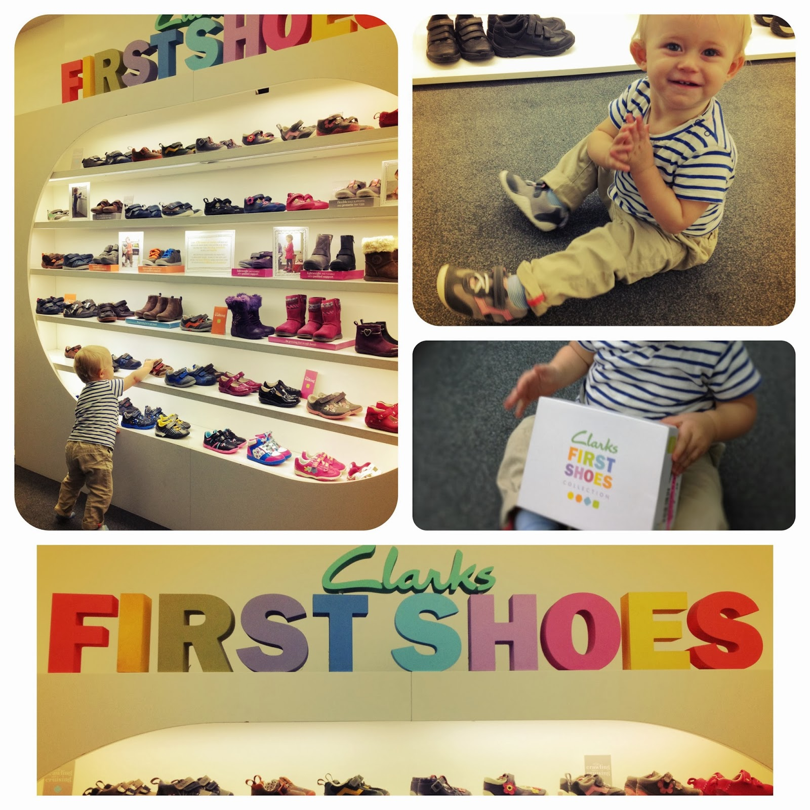 First baby steps and making memories with Clarks | V. I. BUYS