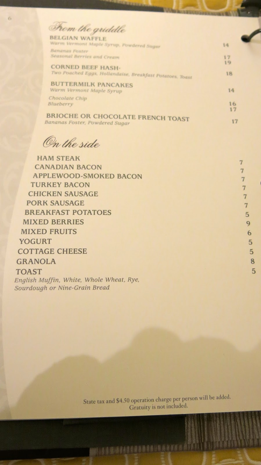 Time To Update The Bellagio Room Service Menu. These Photos Were Taken On  11/22/2014! Please Click On Photos To Enlarge. Part 45