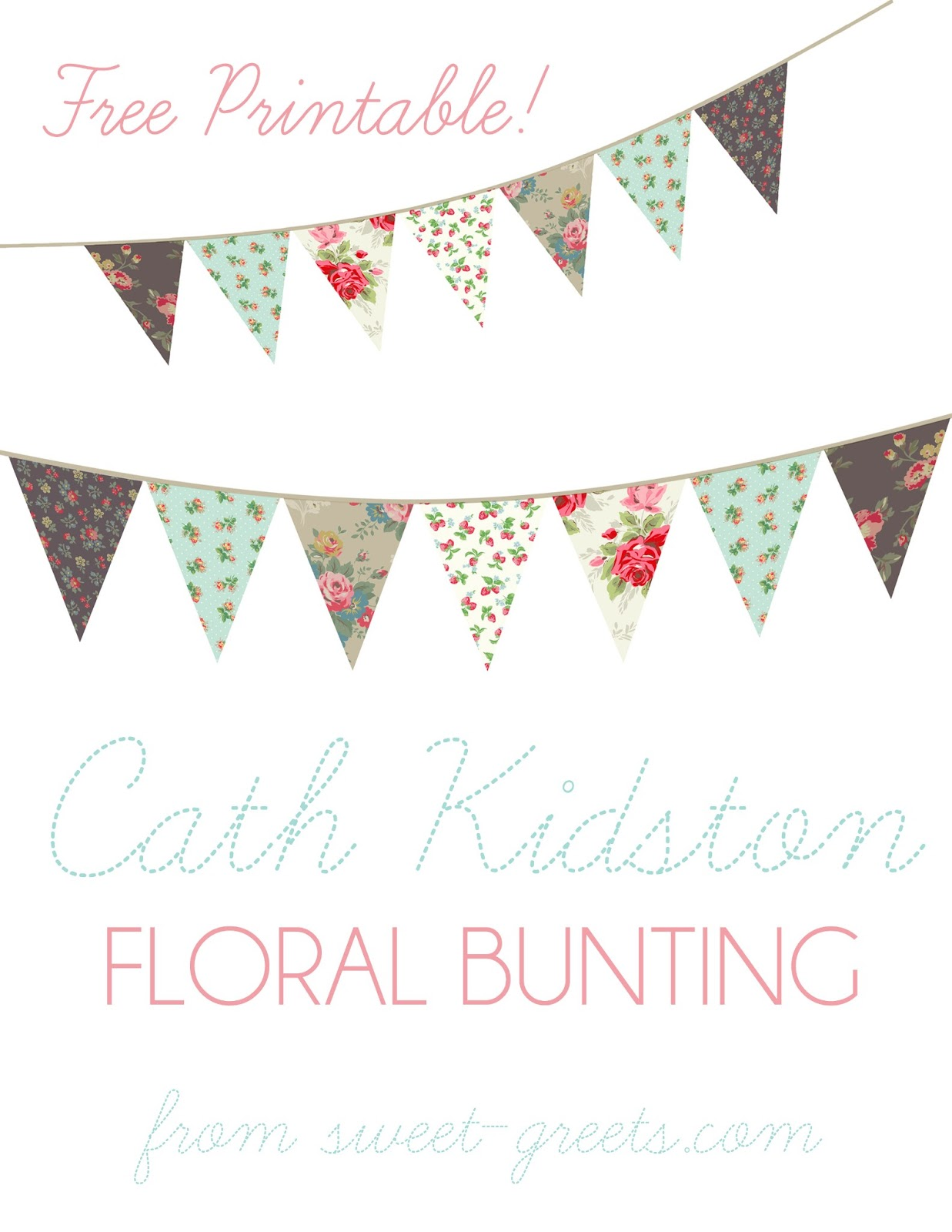 just peachy designs free floral bunting printable