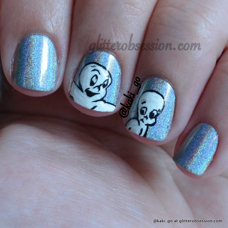 Halloween Nail Art: Casper the Ghost
