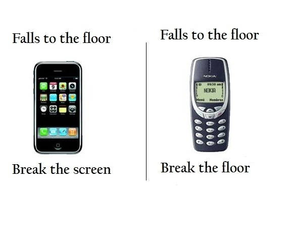 Falls To The Floor - iPhone vs Old Nokia Phone