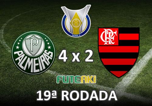 Veja o resumo da partida com os gols e os melhores momentos de Palmeiras 4x2 Flamengo pela 19ª rodada do Brasileirão 2015