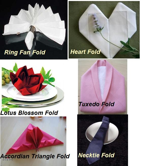 napkin folding is a fun way to add a touch of elegance to your wedding