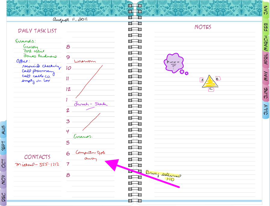 Aug Sept Day Planner Pages For iPad – Daily Planner Sample