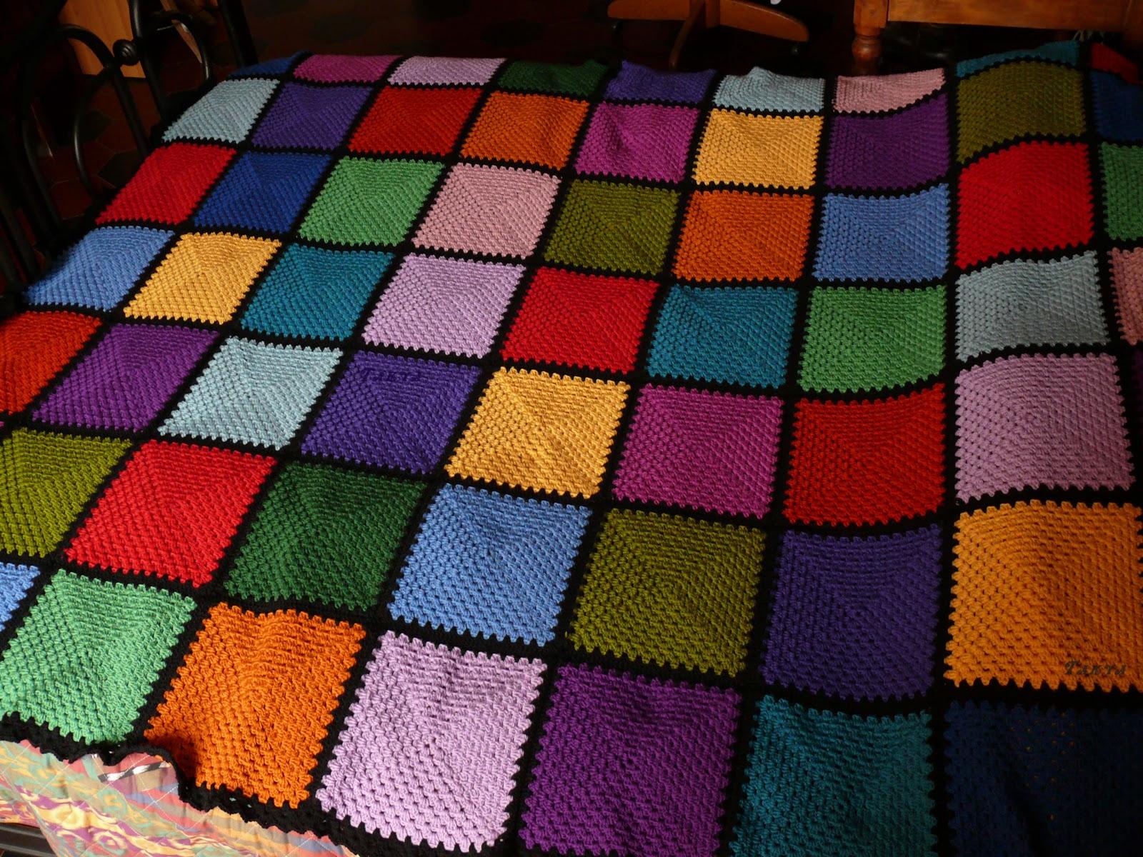 Amato Seconda coperta patchwork all'uncinetto CJ87