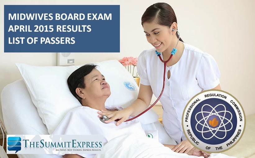 April 2015 Midwifery board exam results