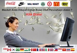 Bekerja di rumah dan dibayar perusahaaan asing