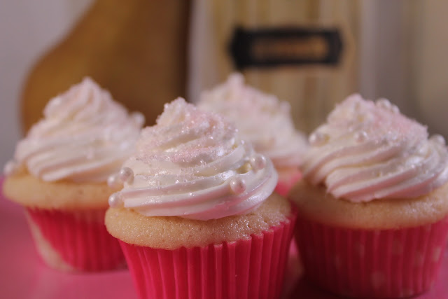 Mini pear and St-Germain cupcakes