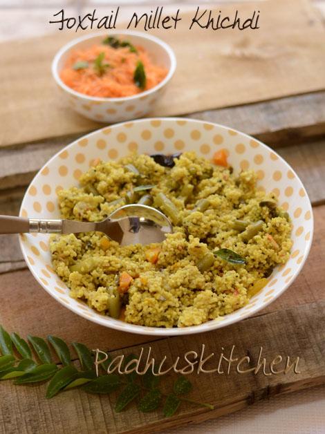 Foxtail Millet Khichdi