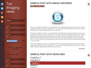 Top Blogging Idea Blogger Template