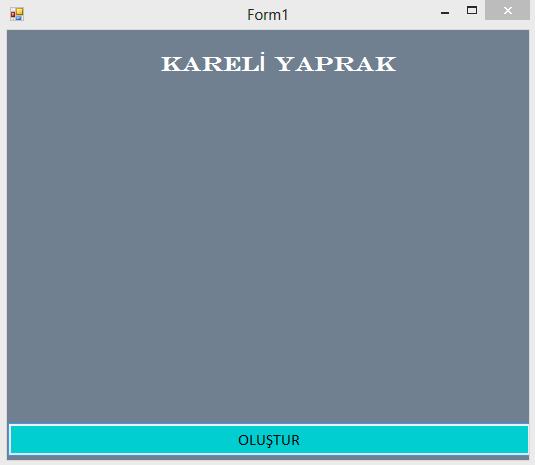 Kodbank c görsel programlama 34 kareli yaprak