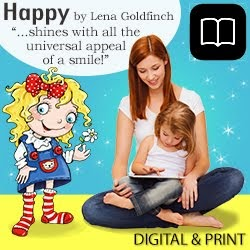 HAPPY by Lena Goldfinch, (Illustrated Picture Book, Toddlers, Baby Books, ebooks, tablet, Kindle Fire, Digital, Print, Paperback)