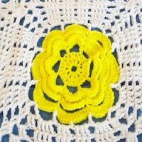 Crochet Yellow Rose Coverlet by Dee38753
