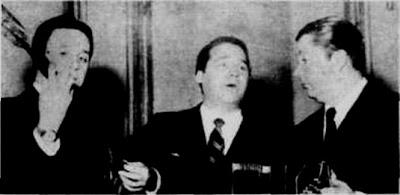 Alberto Marino con Anibal Troilo y Roberto Grela en 1955