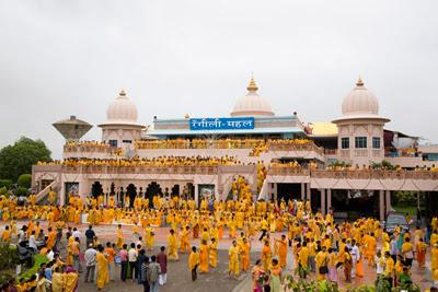 Barsana Dham, India where Janmashtami is currently being celebrated