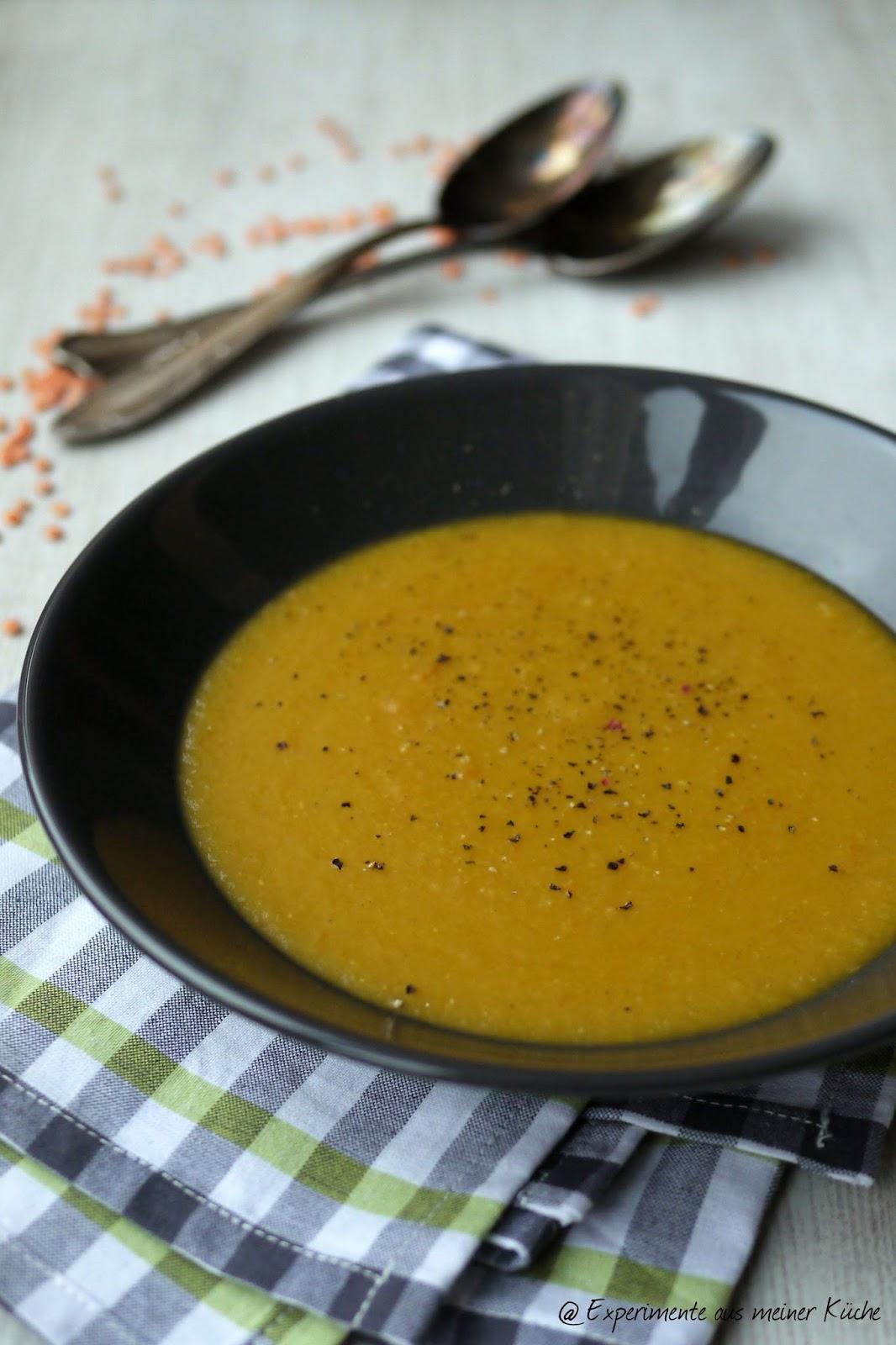 Experimente aus meiner Küche: Möhren-Linsen-Suppe