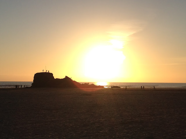 Sunset At Perranporth Chapel Rock