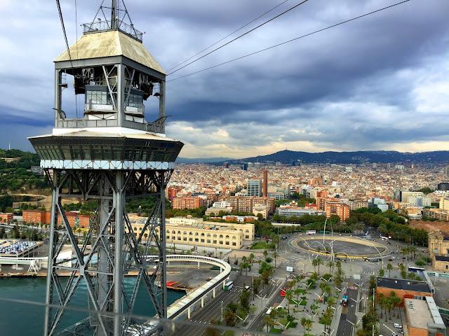 Barcelona kolejka na Montjuic