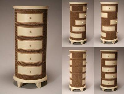 muebles de carton reciclado