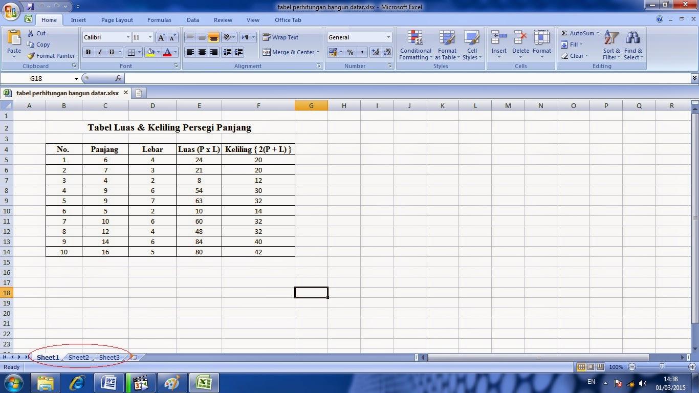 cara, penggunaan, worksheet, microsoft, excel, belajar