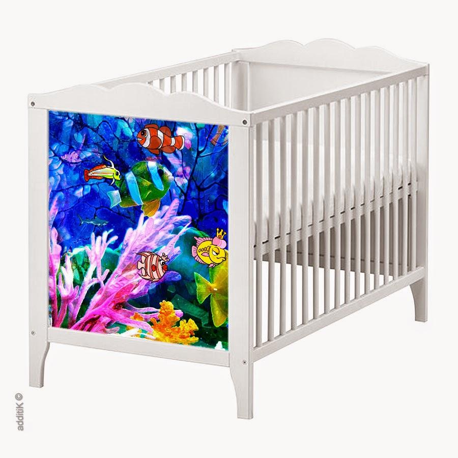 Additik: stickers repositionnables pour lits bébé hensvik et ...