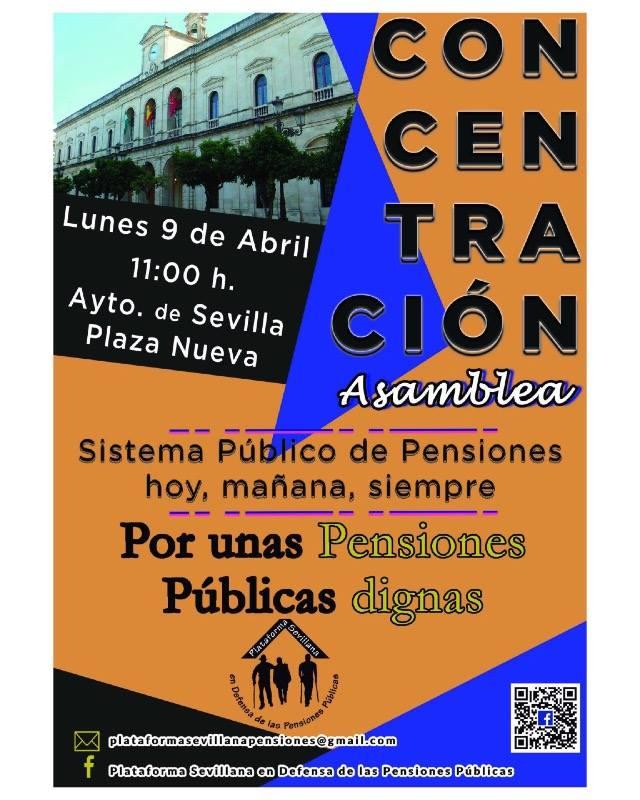 """CONCENTRACIÓN-Asamblea """"Por unas Pensiones Públicas dignas"""""""