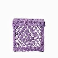 Szydełkowane pudełko (purpurowe) Bloomingville