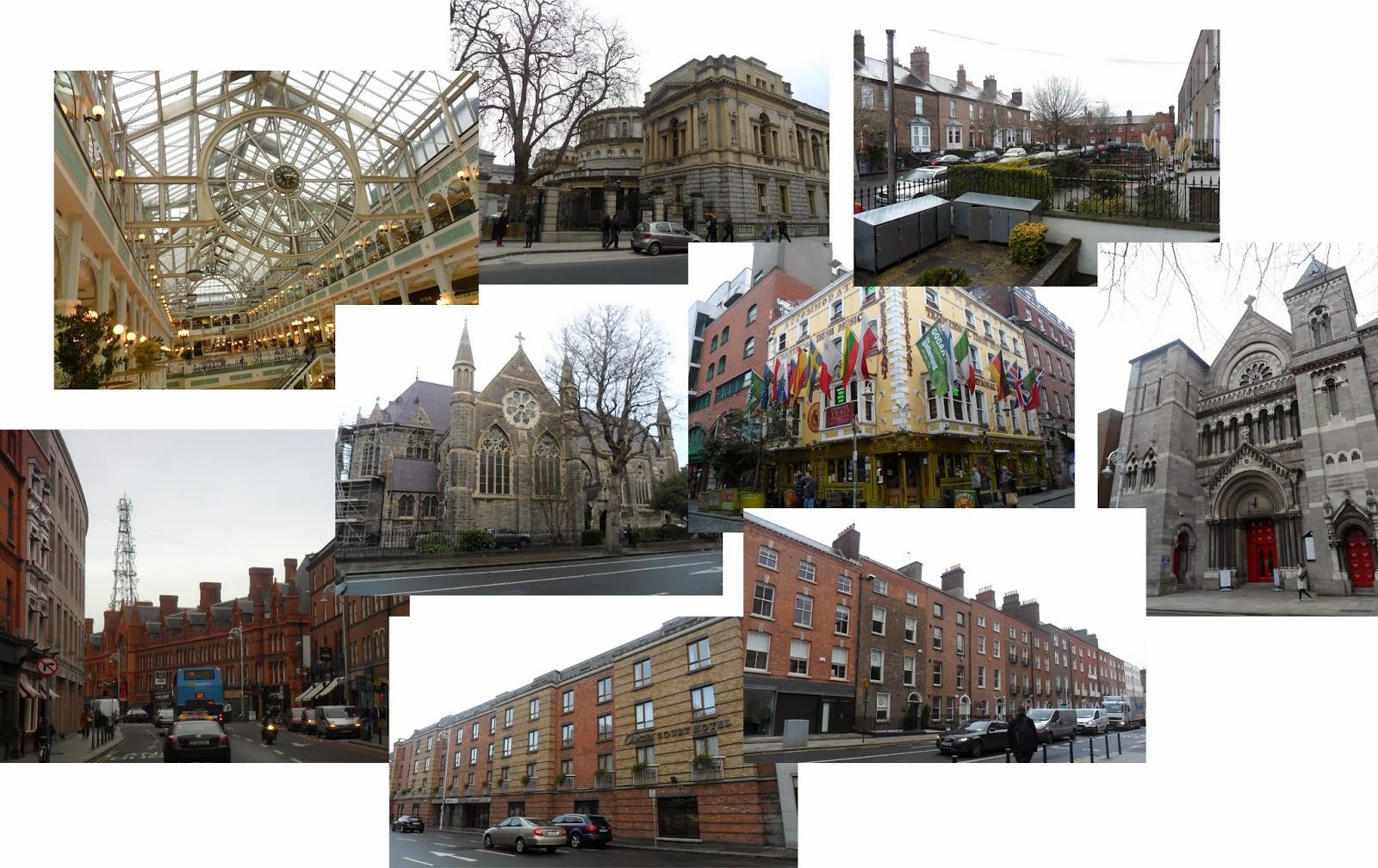 Dublín, mercado, puentes, centro comercial, río, parlamento