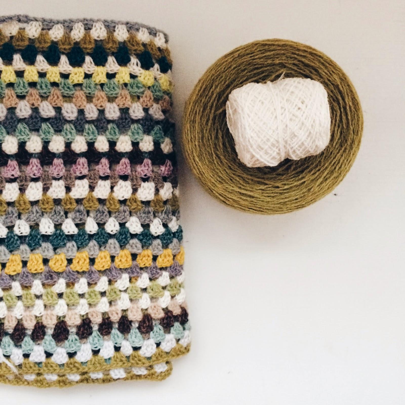 Grannystripes, crochet blanket made by Meraki