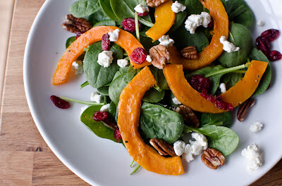 Roasted Butternut Squash Salad with Creamy Homemade Vinaigrette