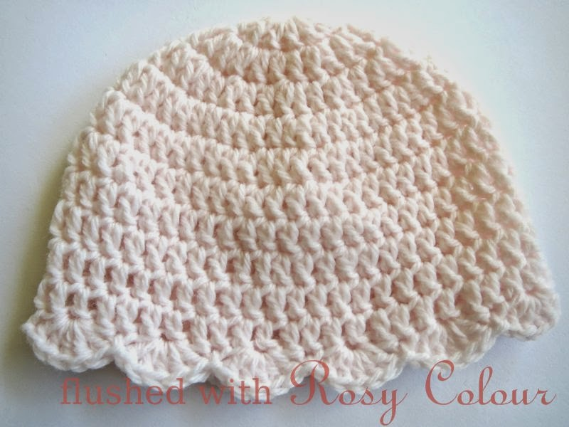 Scalloped Edged Premmie Beanie
