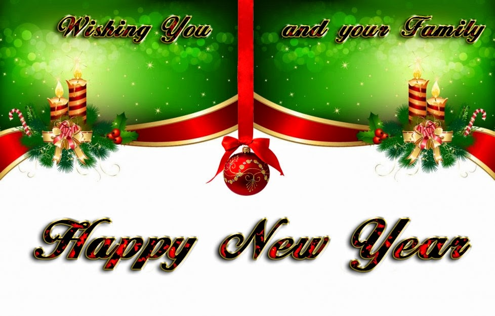 Christmas Candles Ball Happy New Years Wishes 2015 eCard