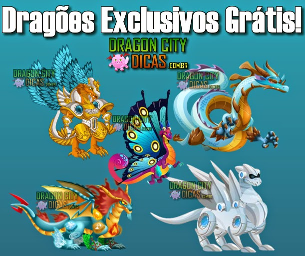 Dragões Exclusivos Grátis do Dragon City!