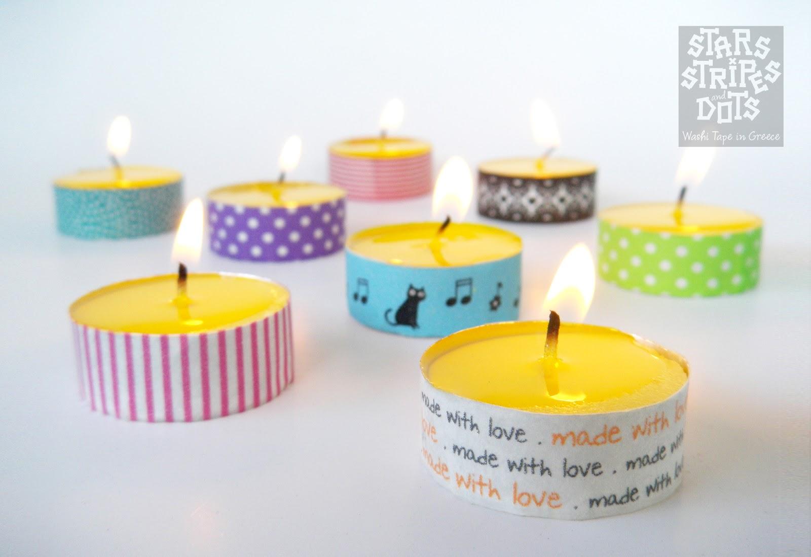 Tea Light Candles Washi Tape