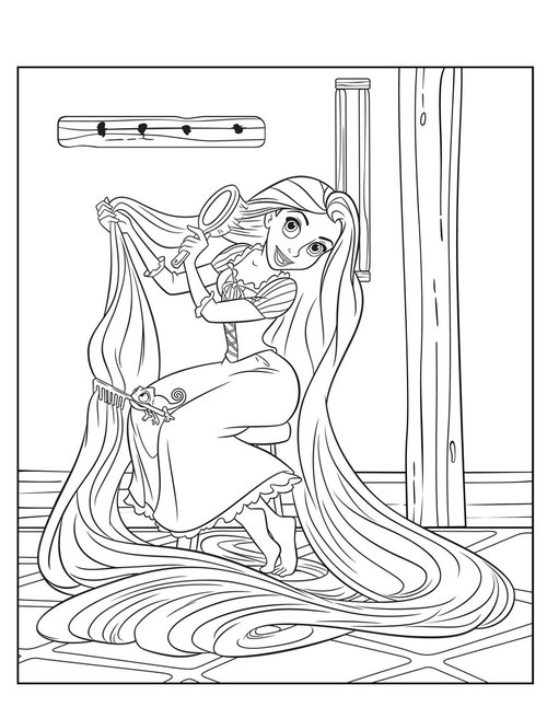 Free Printable Tangled Rapunzel Coloring Pages Gt Gt Disney Free Tangled Coloring Pages