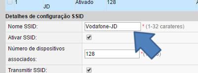 mudar o nome da rede wi fi ssid