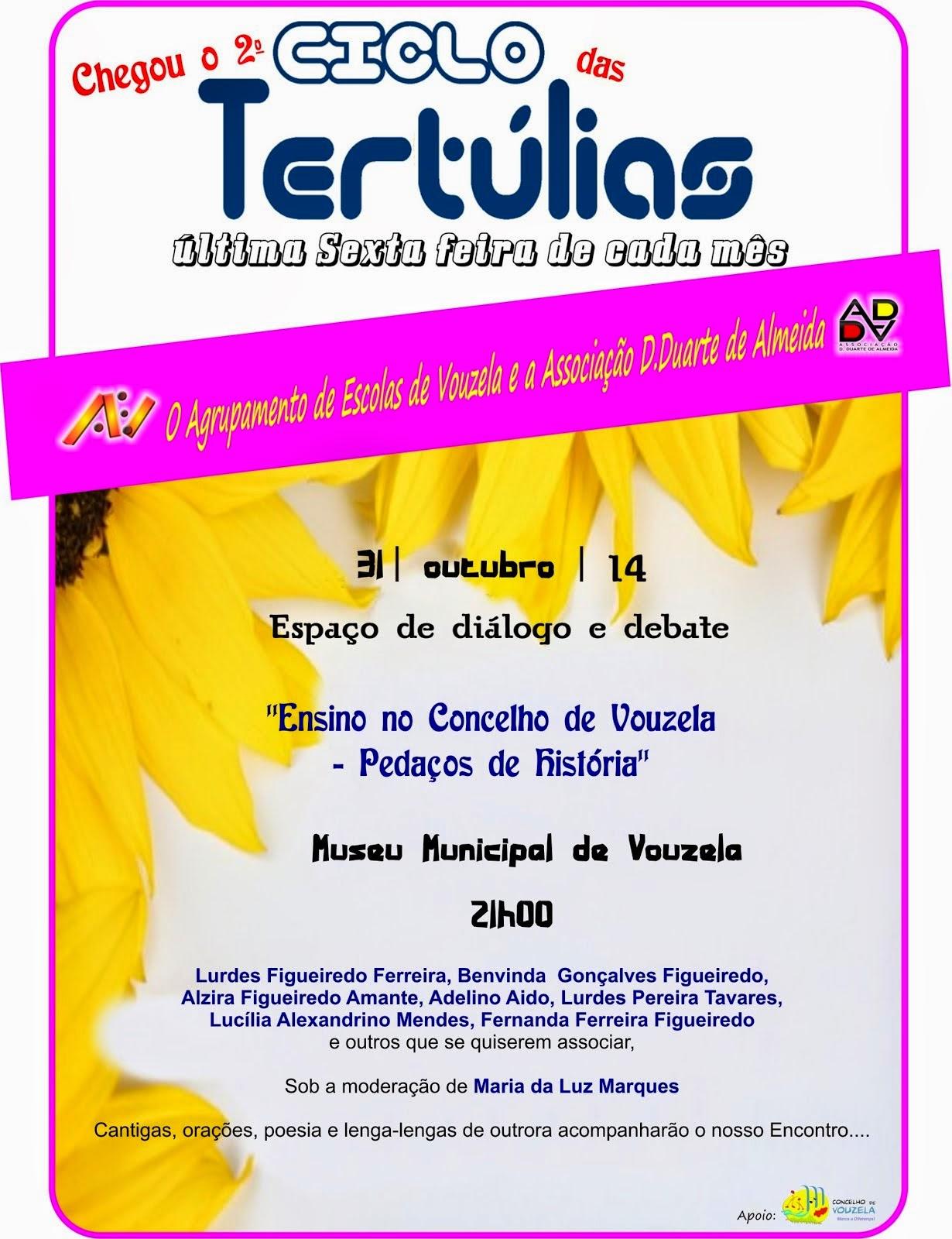 2º ciclo de tertúlias: ensino no concelho de vouzela