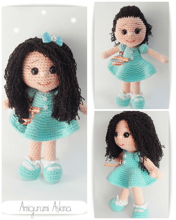 Niloya Amigurumi Free Pattern Doll Oyuncak Bebek : Amigurumi ?rg? Oyuncak K?c?k K?z?m Tiny Mini Design