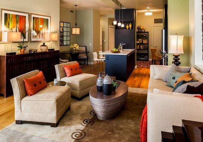 Decora hogar salas decoradas de chocolate y naranja 10 fotos for Paredes naranja y beige