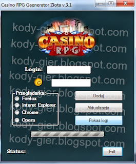 kody do casino rpg