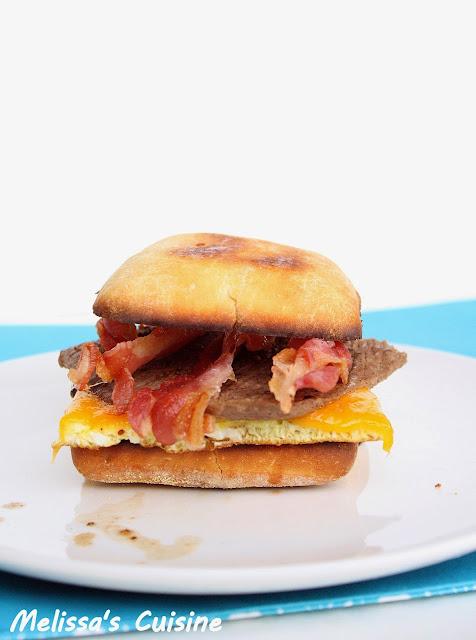 Melissa's Cuisine: Steak and Egg Sandwich