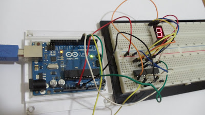 Arduino - CI Max7219 - Display 7 segmentos