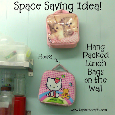 packed lunch bags hanging great ideas