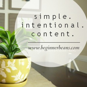 simple. intentional. content.