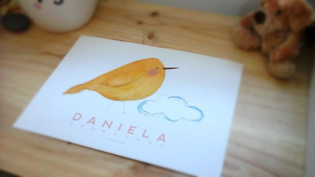 Láminas personalizadas para bebés: Daniela | La tienda de dibus