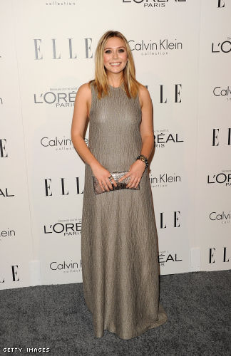Elizabeth+Olson+silver+dress+at+Elle+event