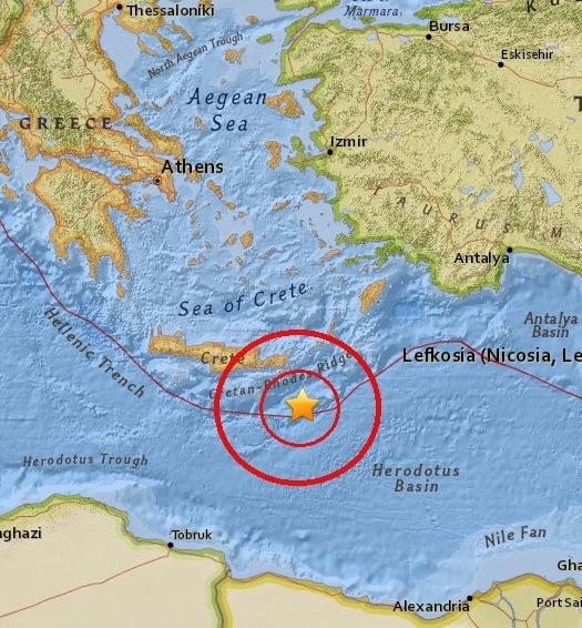 Magnitude 4.8 Earthquake of Makry Gialos, Greece 2015-04-14