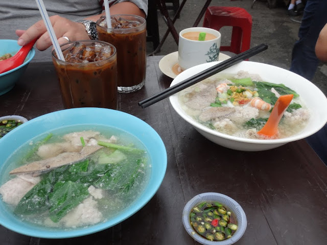 Pork Ball noodle in soup is also another Malaysia popular dishes Pork Ball noodle in soup and Iced Coffee are also another Malaysia popular dishes
