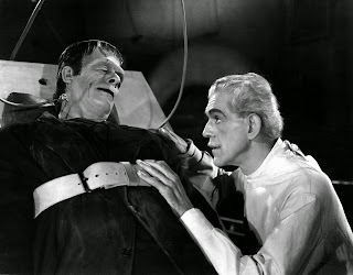 Frankenstein and monster